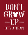 Shop Mickey Don't Grow Up Fleece-Light Sweatshirt (DL)-Full