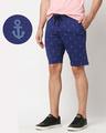 Shop Minimal Anchor AOP Shorts-Front