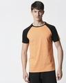 Shop Orange Rush Shoulder Sleeve Raglan T-Shirt-Back