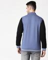 Shop Moonlight Blue Varsity Bomber Jacket-Full
