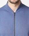 Shop Moonlight Blue Varsity Bomber Jacket