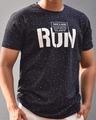 Shop Navy Blue Run Chest Printed Half Sleeves T Shirt-Design