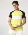 Shop Arcade Green Raglan Color Block T-Shirt-Front