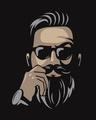 Shop No Shave Beard Half Sleeve T-Shirt-Full