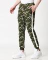 Shop Olive Camo White Stripe Casual Jogger-Design