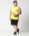 Shop Pineapple Yellow Plus Size Vest-Full
