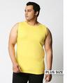 Shop Pineapple Yellow Plus Size Vest-Front