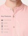 Shop Men's Linen Mandarin Collar Pocket Full Sleeves Shirt
