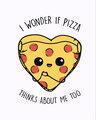 Shop Pizza Thanks Half Sleeve T-Shirt