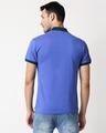 Shop Blue Shoulder Pipping Zipper T-Shirt-Full