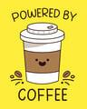 Shop Powered By Coffee Half Sleeve Printed T-shirt-Full