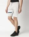 Shop Quiet Grey Men's Solid One Side Printed Strip Shorts-Design