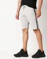 Shop Quiet Grey Men's Solid Side Tape Pocket Shorts-Front