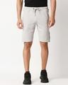 Shop Quiet Grey Men's Solid Side Tape Pocket Shorts-Back