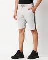 Shop Quiet Grey Men's Solid Side Tape Pocket Shorts-Design