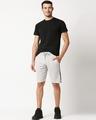 Shop Quiet Grey Men's Solid Side Tape Pocket Shorts