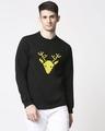 Shop Men Chest Printed Black Sweatshirt-Back