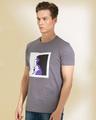Shop Ladypop Grey Graphic T Shirt-Back
