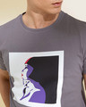 Shop Ladypop Grey Graphic T Shirt-Full