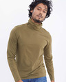 Shop Military Green Full Sleeves T Shirt With Face Cover-Design