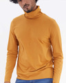 Shop Mustard Full Sleeves T Shirt With Face Cover-Design