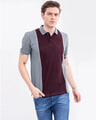 Shop Wine Cut & Sew Knitted Polo T Shirt-Back