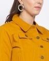 Shop Womens Mustard Solid Denim Jackets