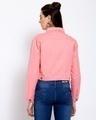 Shop Womens Pink Solid Denim Jackets-Design