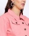 Shop Womens Pink Solid Denim Jackets