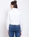 Shop Womens White Solid Denim Jackets-Design