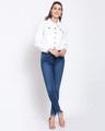 Shop Womens White Solid Denim Jackets-Full