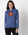 Shop Superman Classic Logo Sweatshirt Hoodie (SML)-Front
