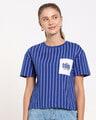 Shop Too Cool For You Pocket Stripe Short Top-Front