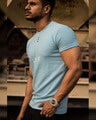 Shop Sky Blue Young & Restless Printed Half Sleeves T Shirt-Design