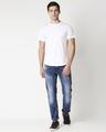 Shop White Round Neck Tail Hem T-Shirt