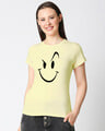 Shop Wink New Half Sleeve Printed T-shirt yellow-Front