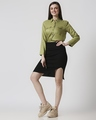 Shop Womens Solid Smoked Waist Top