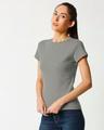 Shop Women's Half Sleeve Rib T-shirt-Design