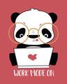 Shop Work Mode On Panda Half Sleeve T-Shirt