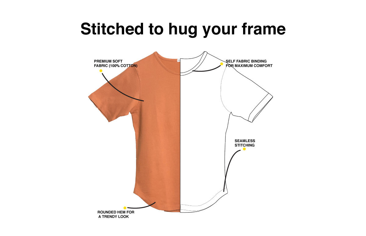 Wait And Watch Basic Round Hem T-Shirt Description Image Website 1@Bewakoof.com