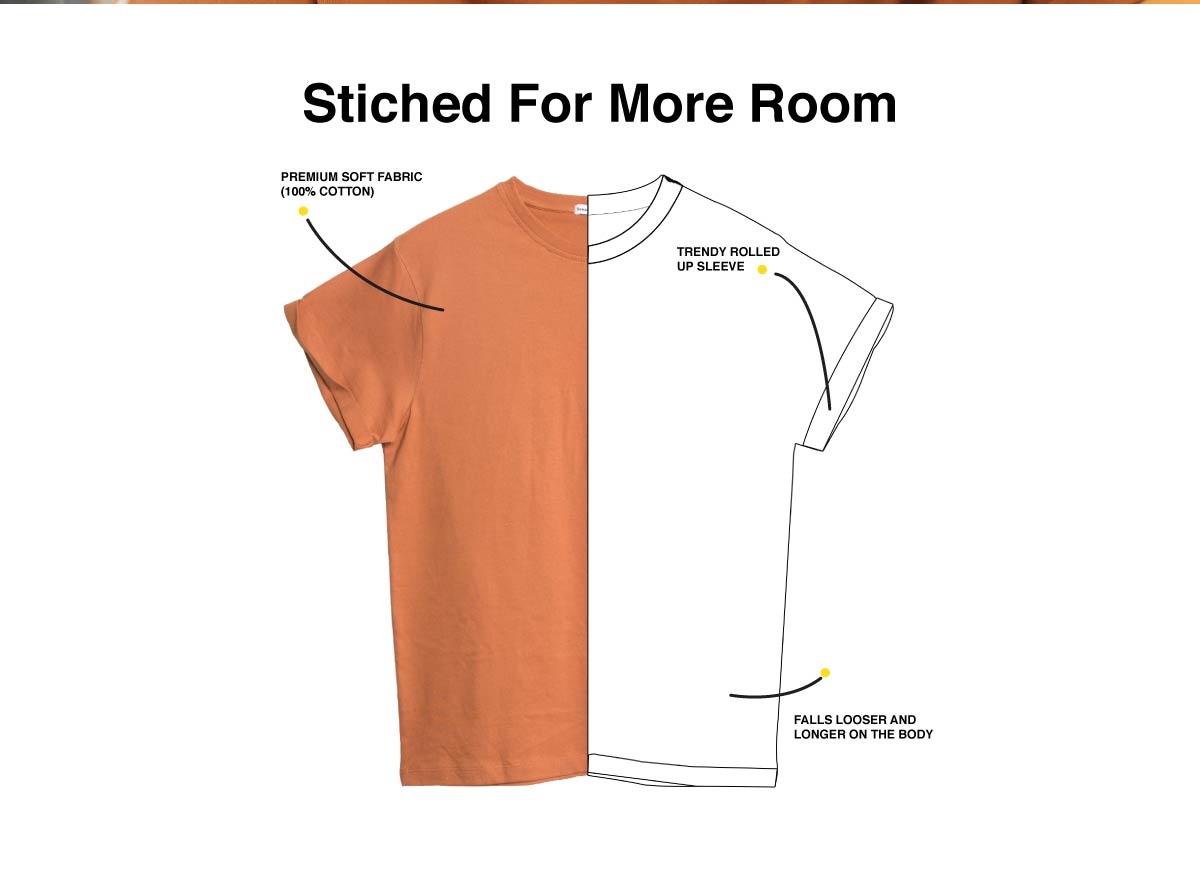 Donald Circle Boyfriend T-Shirt (DL) Description Image Website 1@Bewakoof.com