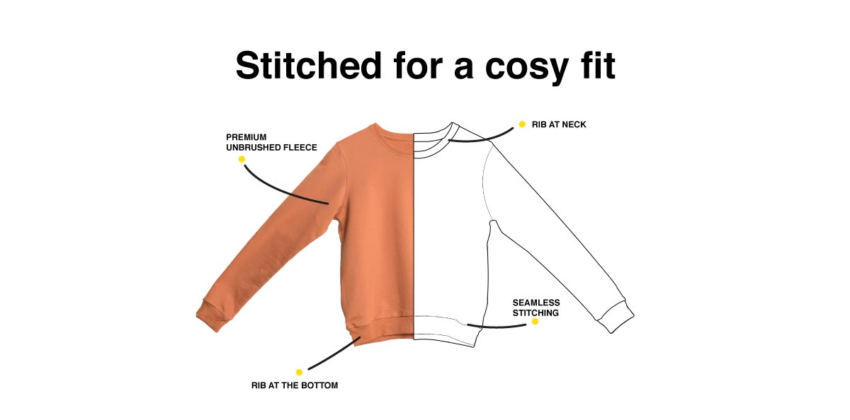 Peel Off Fearless Sweatshirt Description Image Website 1@Bewakoof.com