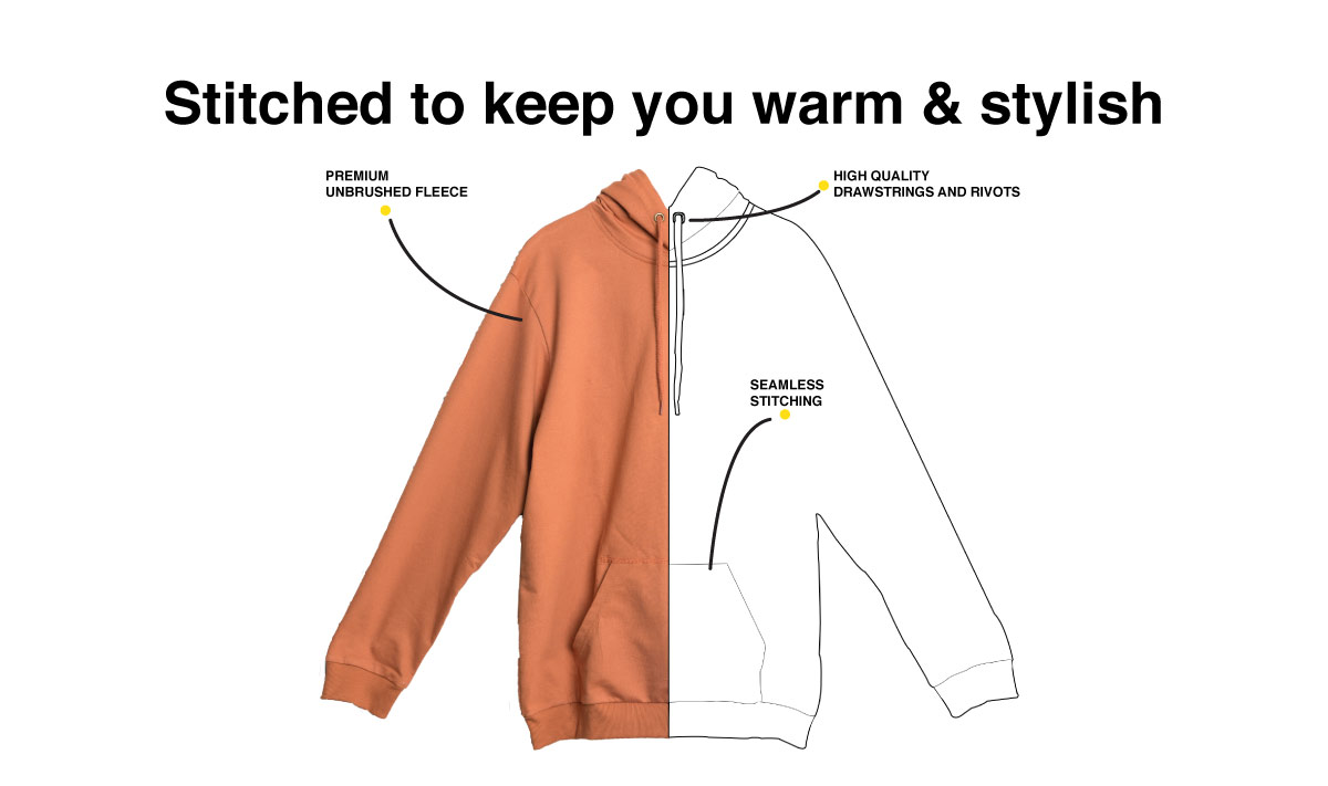 Hope Pin Fleece Hoodies Description Image Website 1@Bewakoof.com