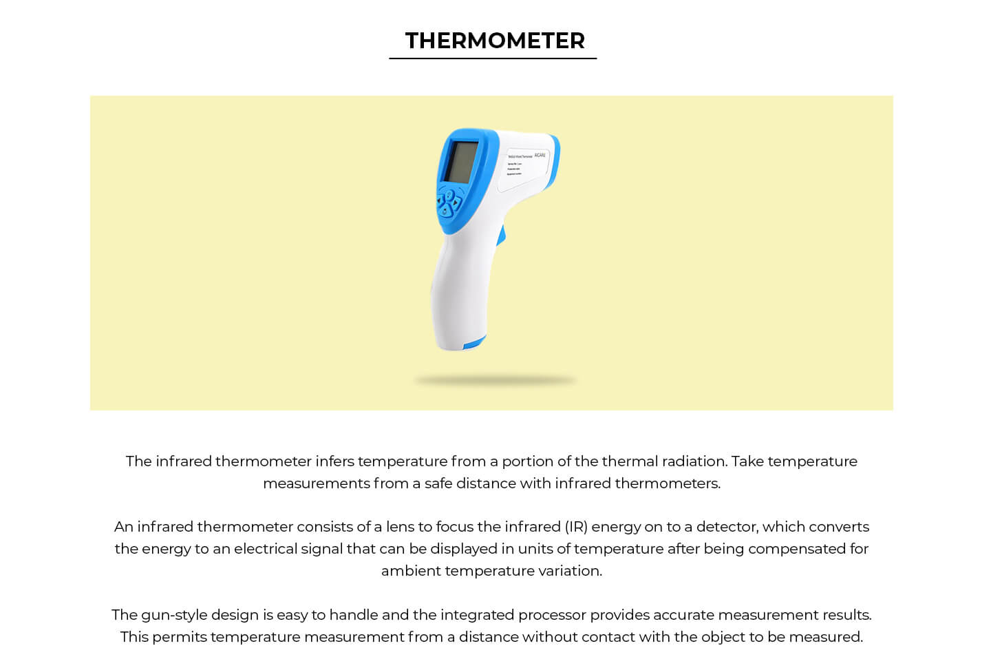 Non-Contact Infrared Thermometer Description Image Website 0@Bewakoof.com