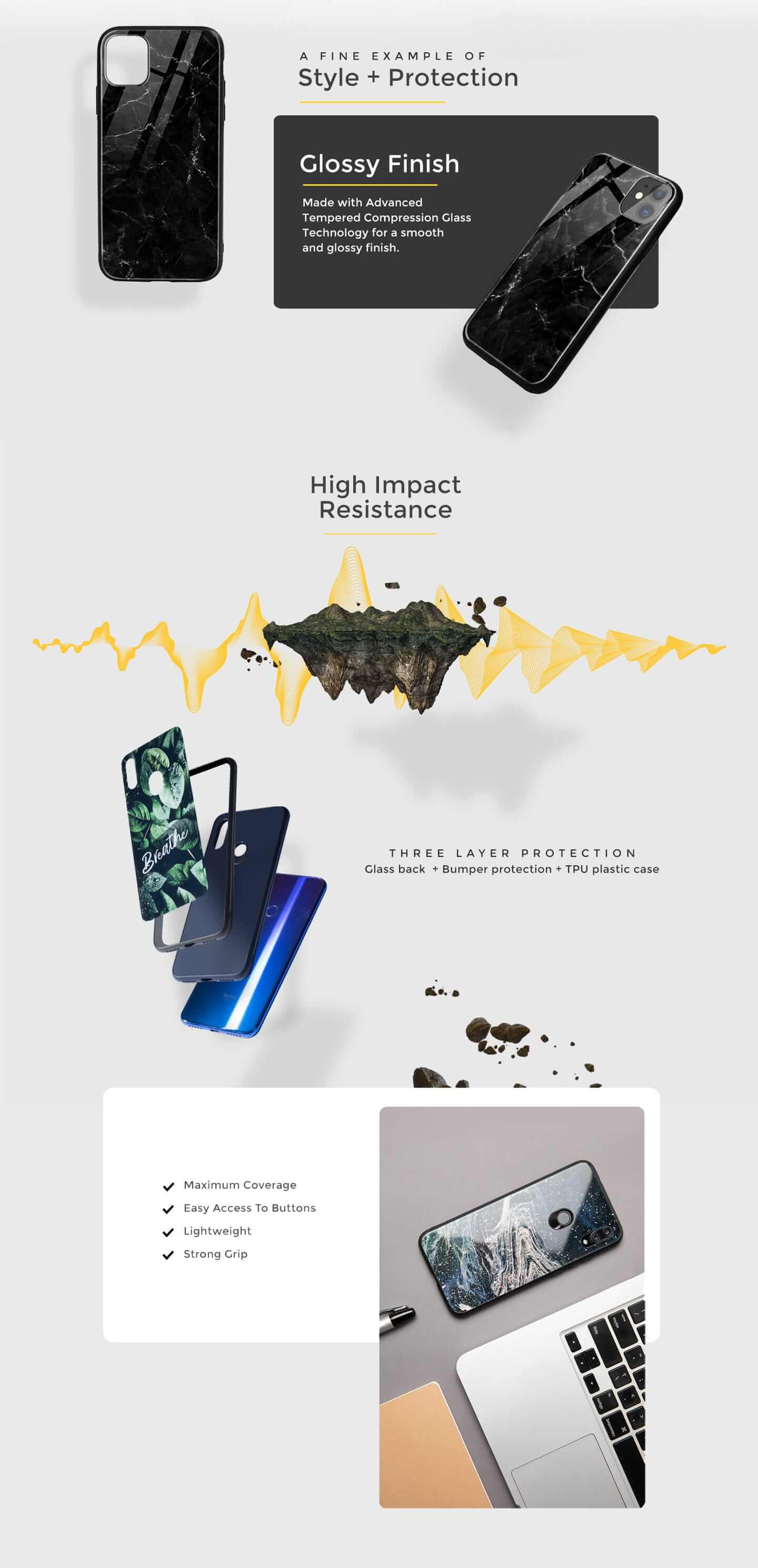 Thor Hammer Vivo V15 Pro Glass Mobile Cover (AVL) Description Image Website 0@Bewakoof.com