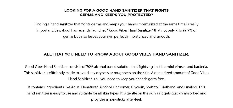 Good Vibes Hand Sanitizer (300 ml) (Pack of 2) Description Image Website 1@Bewakoof.com