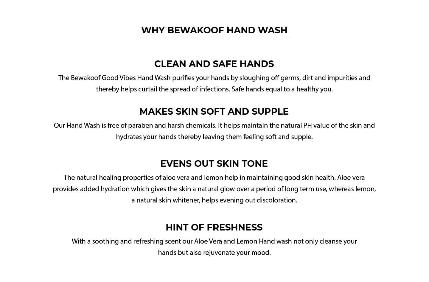 Good Vibes Hand Wash - Aloe Vera (300 ml) Pack Of 2 Description Image Website 1@Bewakoof.com