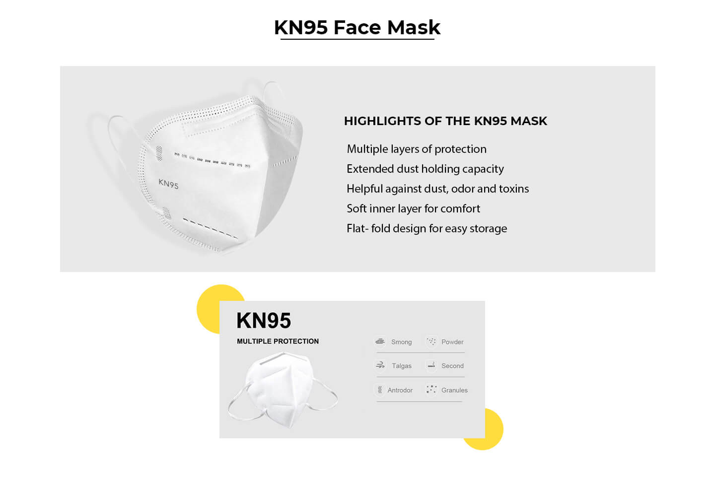 KN95 Face Mask Pack of 3 Description Image Website 0@Bewakoof.com