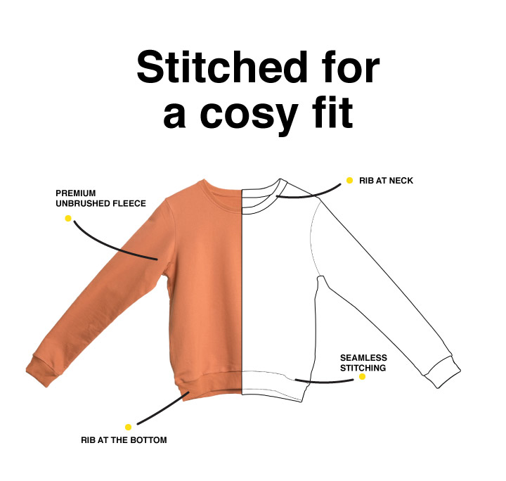 Peel Off Fearless Sweatshirt Description Image Mobile Site 1@Bewakoof.com