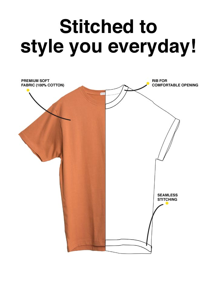 Single All The Way Half Sleeve T-Shirt Description Image Mobile Site 1@Bewakoof.com